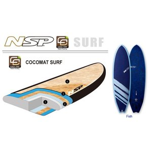 NSP surfboards  品番  CocoMat FISH Blue 6'4