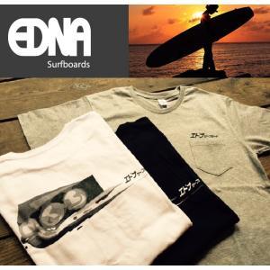 胸ポケットTシャツ エドナ サーフボード|janis