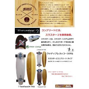 スケートボード ウッディプレス コースタル 34 スラスター2 コンプリート|janis