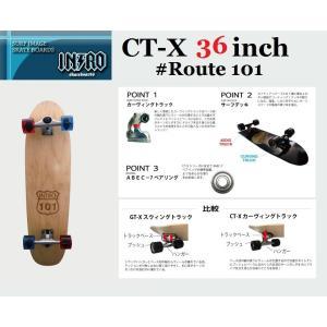 スケートボード  イントロ CT-X   36 ROUTE 101|janis