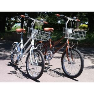 自転車 20インチ GRQ バスケットミニ ブラウン ホワイト |janis