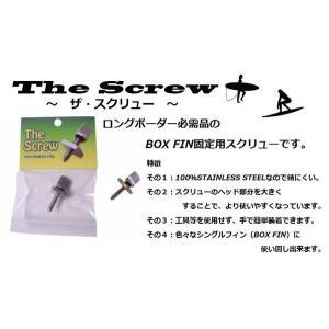TheScrew(ザ・スクリュー) 固定ネジ ロングボーダー必需品のBOX FIN固定用スクリュー|janis