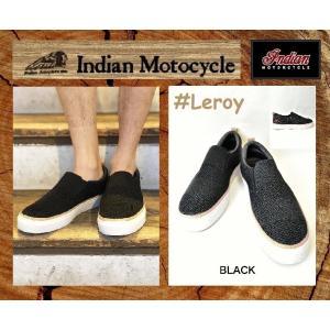 インディアンモーターサイクル スリップオン  スニーカー ブラック 26cm  品番 Leroy  / IND-11279 INDIANMOTOCYCLE|janis