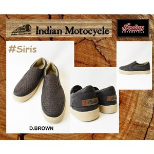 インディアンモーターサイクル スリップオン  スニーカー  ダークブラウン 26cm 品番 Siris  / IND-11503 INDIANMOTOCYCLE|janis
