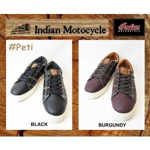 インディアンモーターサイクル 26cm  スニーカー   品番  Petl  / IND-11502  BLACK / BURGUNDY INDIANMOTOCYCLE|janis