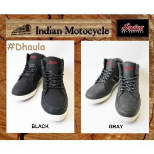 インディアンモーターサイクル 26cm  スニーカー   品番  Dhaula  / IND-11801 BLACK / GRAY   INDIANMOTOCYCLE|janis