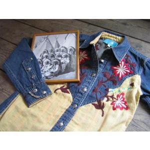 INDIANMOTOCYCLE(インディアンモーターサイクル)社 ハンド刺繍長袖ウエスタンシャツ|janis