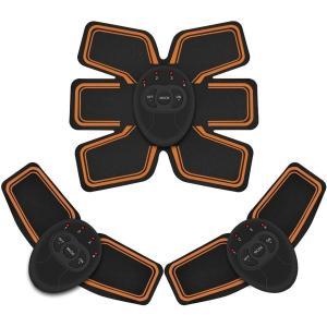 3点セット EMSIC 腹筋ベルト EMS 腹筋 腕筋 筋トレ器具 トレーニングマシーン 「6種類モ...