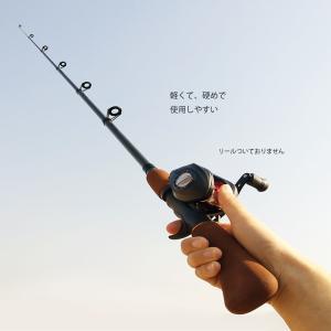 釣りロッド 1.6m 海 釣り竿 コンパクトロッド 釣竿 海釣り 携帯型 リールなし ガラス繊維