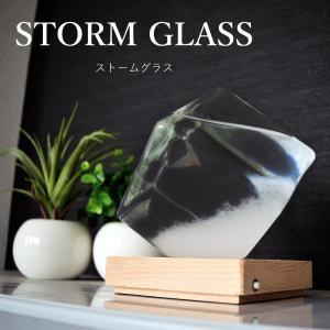 ストームグラス テンポドロップ ガラス天気予報ボトル ストーム瓶 Tempo Drop Large 気象予報器 結晶観察器 正方形 キューブ インテリア 贈り物 ガラス 小物 janri