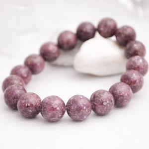 レピドライト ブレスレット 紫雲母 天然石 パワーストーン シンプル メンズ 大人 上品|japan-couture