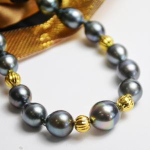 黒蝶真珠 バロック デザインネックレス 大人 上品|japan-couture