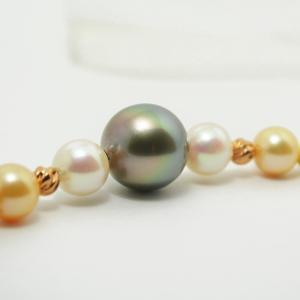 黒蝶真珠 黒真珠ネックレス 本真珠ネックレス デザインマルチネックレス 大人 上品|japan-couture