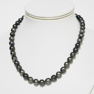 黒真珠ネックレス 黒蝶真珠ネックレス フォーマルネックレス 大人 上品|japan-couture