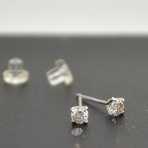 K18WG刻印有り 18金ホワイトゴールド ダイヤモンド0.2ct 天然ダイヤモンド スタッドピアス つけっぱなしピアス 日本製 大人 上品|japan-couture