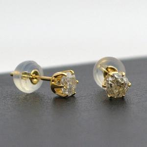 0.5ct 18金 K18  天然ダイヤモンド ピアス スタッドピアス 日本製 大人 上品|japan-couture