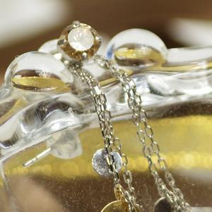 ダイヤモンド プラチナピアス TTLB チェーン付き 18金コンビ ロングピアス 大人 上品|japan-couture|03