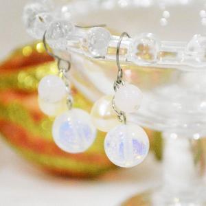 チタンピアス  フックピアス ピンクオパール 誕生石と天然石のアクセサリー 淡水パール 10月 ケース付 プレゼント 誕生日 大人 上品|japan-couture
