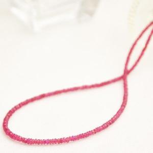 ルビー 40cm ルビーネックレス ピンク系  シルバー925 日本製 プレゼント ケース付き 7月誕生石|japan-couture