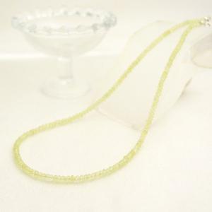 プレナイトネックレス ボタンカット 小さい粒 石 淡い緑 天然石 パワーストーン プレゼント ケース付き 大人 上品|japan-couture