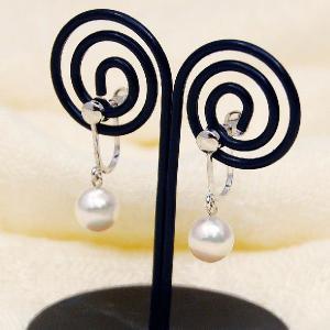 あこや本真珠 7.0mm珠 イヤリング 揺れるデザイン 冠婚葬祭 入学式 卒業式 大人 上品|japan-couture