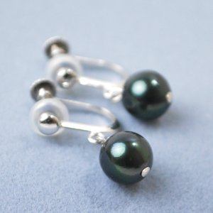 黒真珠 あこや本真珠 イヤリング シルバー 大人 上品|japan-couture