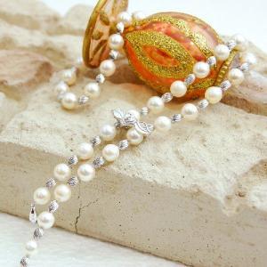あこや本真珠 パールネックレス  7.5mm珠 ラリエットネックレス 大人 上品|japan-couture