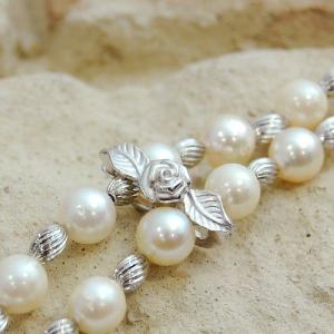 あこや本真珠 パールネックレス  7.5mm珠 ラリエットネックレス 大人 上品|japan-couture|03