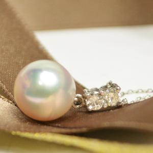 本真珠 プラチナ ネックレス 大珠 8mm 40cm 大人 上品|japan-couture