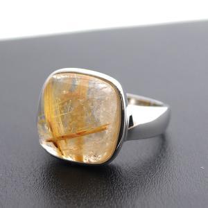 ルチルクオーツ メンズリング 指輪 大人 上品 japan-couture