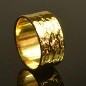 太め 指輪 リング スターリングシルバー 幅広 メンズリング ゴールド プレゼント ケース付 大人 上品 japan-couture