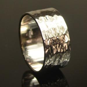 太め 指輪 リング スターリングシルバー 幅広 メンズリング ロジウム プレゼント ケース付 大人 上品 japan-couture