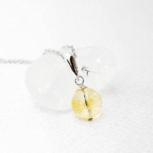 シトリン  黄水晶 ペンダント ネックレス シルバー925 日本製 チェーン40cm 大人 上品|japan-couture
