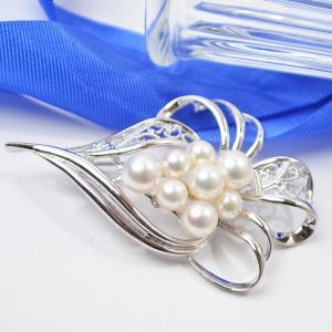 パールブローチ あこや本真珠 シルバー925 大人 上品|japan-couture