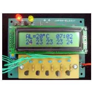 LCD温度計 5CHタイプ 完成品|japan-elekit