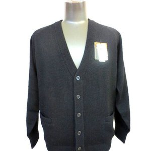 日本国内でカシミヤ原毛を精製、縮絨加工、12ゲージ天竺編みのメンズ紳士カシミヤ100%カーディガンMサイズのブラック国産|japan-made-fullhouse
