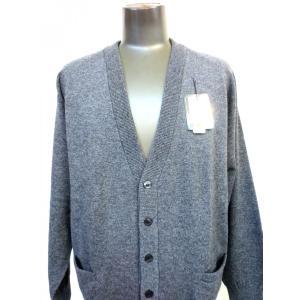日本国内でカシミヤ原毛を精製、縮絨加工、12ゲージ天竺編みのメンズ紳士カシミヤ100%カーディガンMサイズのチャコール国産|japan-made-fullhouse