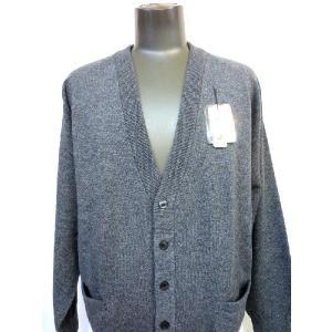 日本国内でカシミヤ原毛を精製、縮絨加工、12ゲージ天竺編みのメンズ紳士カシミヤ100%カーディガン2Lサイズのチャコール国産|japan-made-fullhouse