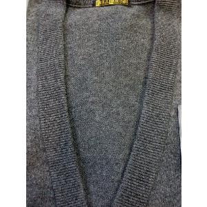 日本国内でカシミヤ原毛を精製、縮絨加工、12ゲージ天竺編みのメンズ紳士カシミヤ100%カーディガン2Lサイズのチャコール国産|japan-made-fullhouse|02