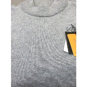 日本国内でカシミヤ原毛を精製、縮絨加工、12ゲージ天竺編みのメンズ紳士カシミヤ100%モックネックハイネックセーターLサイズのグレー国産|japan-made-fullhouse|02