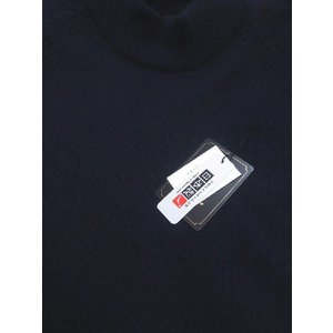 日本国内でカシミヤ原毛を精製、縮絨加工、12ゲージ天竺編みのメンズ紳士カシミヤ100%モックネックハイネックセーターLサイズのネイビー国産|japan-made-fullhouse|02