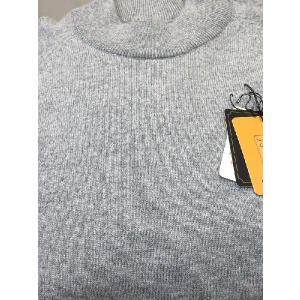 日本国内でカシミヤ原毛を精製、縮絨加工、12ゲージ天竺編みのメンズ紳士カシミヤ100%モックネックハイネックセーターMサイズのグレー国産|japan-made-fullhouse|02