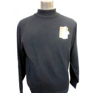 日本国内でカシミヤ原毛を精製、縮絨加工、12ゲージ天竺編みのメンズ紳士カシミヤ100%モックネックハイネックセーター2Lサイズのブラック国産|japan-made-fullhouse