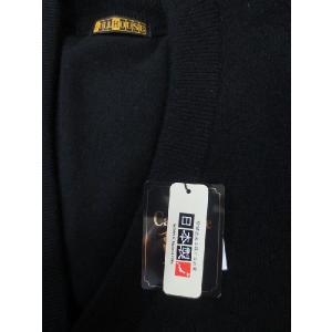 日本国内でカシミヤ原毛を精製、縮絨加工、12ゲージ天竺編みのメンズ紳士カシミヤ100%前開きオープンベストMサイズのブラック国産|japan-made-fullhouse|02