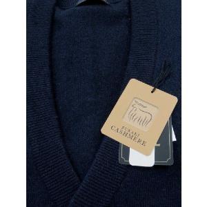 日本国内でカシミヤ原毛を精製、縮絨加工、12ゲージ天竺編みのメンズ紳士カシミヤ100%前開きオープンベストMサイズのネイビー国産|japan-made-fullhouse|02