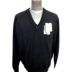 日本国内でカシミヤ原毛を精製、縮絨加工、12ゲージ天竺編みのメンズ紳士カシミヤ100%VネックセーターLサイズのブラック国産|japan-made-fullhouse