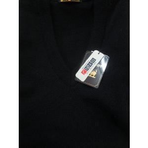 日本国内でカシミヤ原毛を精製、縮絨加工、12ゲージ天竺編みのメンズ紳士カシミヤ100%Vネックベスト2Lサイズのブラック国産|japan-made-fullhouse|02