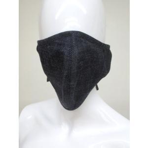 女性サイズ2枚組二重セルビッチデニムのマスク丁寧に作ったハンドメイドで肌にやさしい綿100%日本製耳掛ヒモ型malh|japan-made-fullhouse