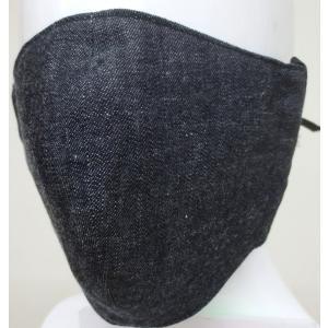 男性サイズ2枚組二重セルビッチデニムのマスク丁寧に作ったハンドメイドで肌にやさしい綿100%日本製耳掛ゴム型mamg|japan-made-fullhouse