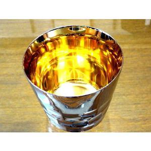 黄金に輝く燕市の金属グラスコップ、タンブラー、マグカップ黄金に輝く燕三条内面純金ステンレス製GSMポーチ付国産日本製|japan-made-skittle